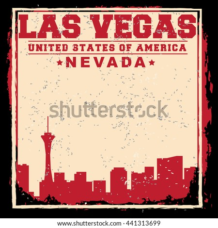 las vegas city concept logo