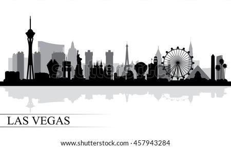 Las Vegas city skyline silhouette background, vector illustration Stock fotó ©