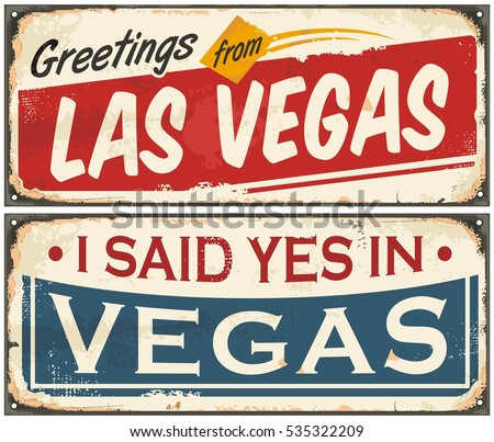 las vegas retro tin sign design ...