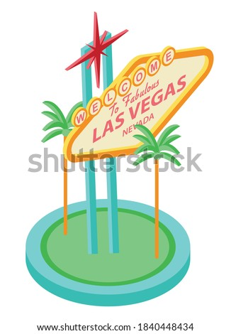 Las Vegas Sign vector illustration