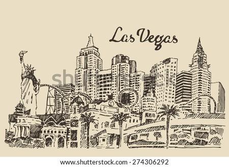 las vegas skyline  big city...