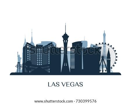 las vegas skyline  monochrome