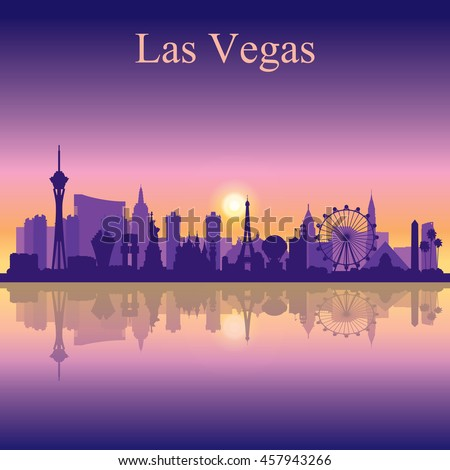 las vegas skyline silhouette on