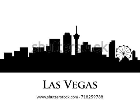 las vegas skyline vector