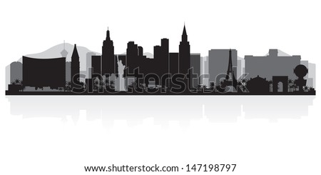 Las Vegas USA city skyline silhouette vector illustration