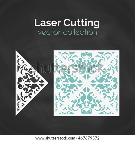 laser cut card template for laser cutting cutout illustration with