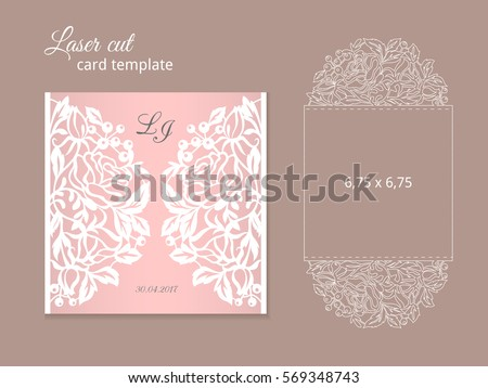 Free die cut vector download free vector art stock graphics images laser cut invitation card template wedding invitation template for laser cutting or die cutting reheart Gallery