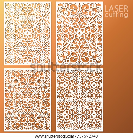 laser cut ornamental panel set