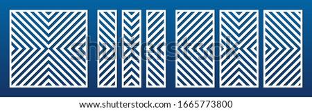 laser cut panel set vector