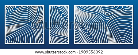 laser cut pattern set vector