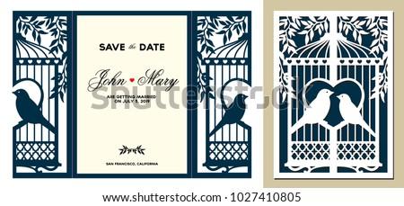 laser cut template. birdcage...