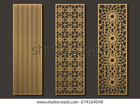 Laser Cut Vector Shapes Set Download Free Vector Art Stock