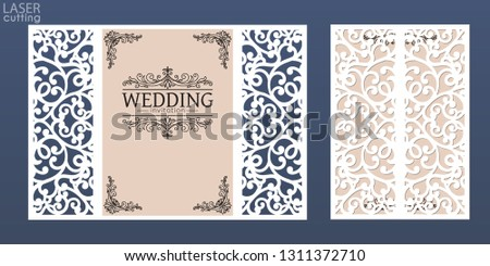 Laser Cut Invitation Vector - Download Free Vector Art, Stock