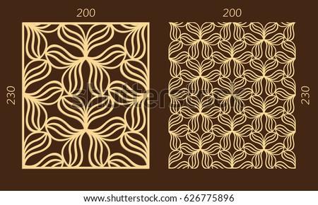 laser cutting set woodcut