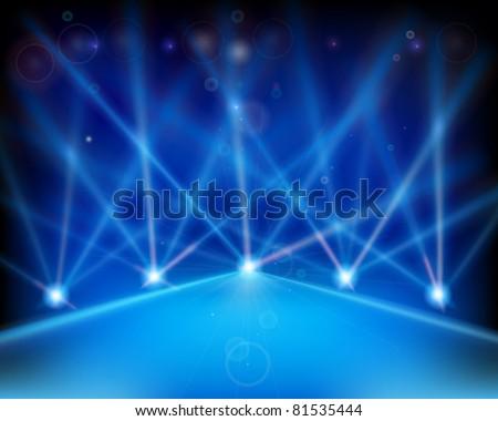 Laser effect of Stage. Vector illustration.