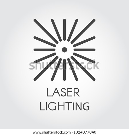 Laser lighting icon drawing in outline style. Graphic thin line stroke pictograph. Technology concept contour web sign. Vector illustration for different design needs