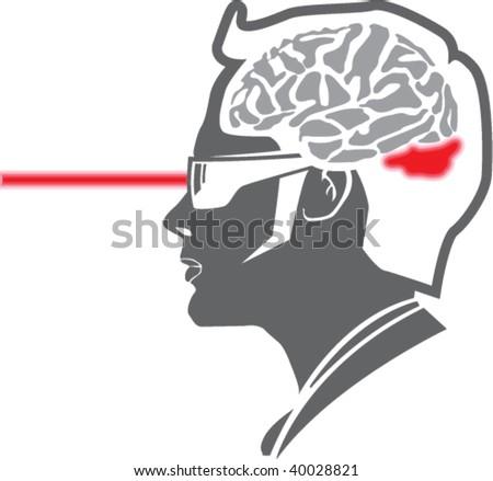 Laser penetrates Mind