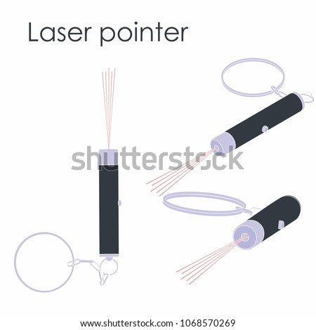 Laser pointer colored without silhouette