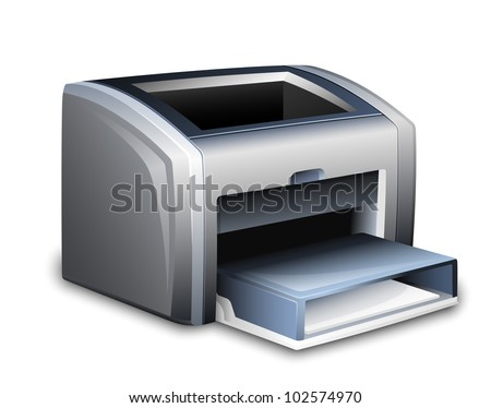 Laser printer icon. Vector illustration