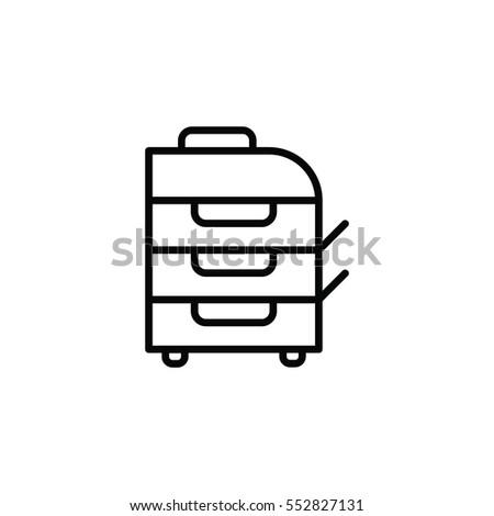 Laser printing apparatus line icon