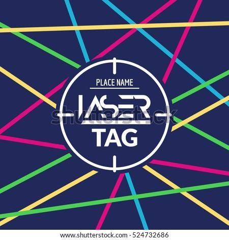 laser tag target game poster