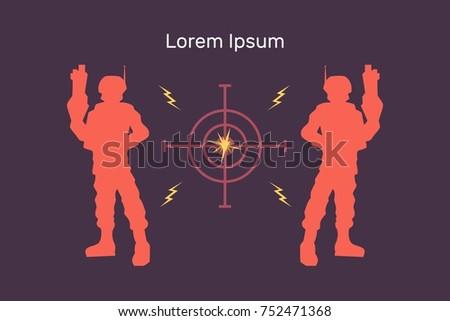 lasertag vector flat banner