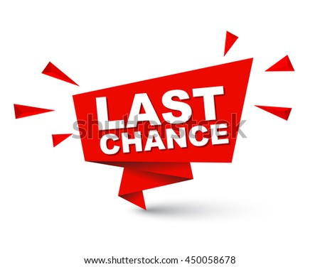 last chance  red vector last