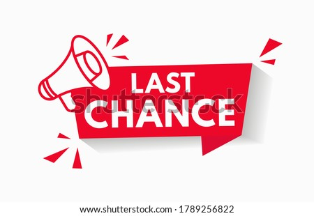 last chance sale offer promo