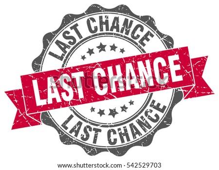 last chance stamp sticker