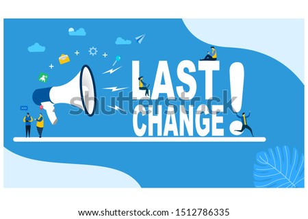 Last change Tiny People Character Concept Vector Illustration, Suitable For web landing page,Wallpaper, Background, Card, banner,Book Illustration