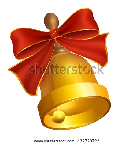 last golden bell and red bow