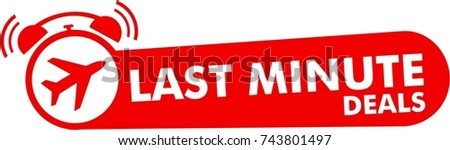 last minute deals  red logo