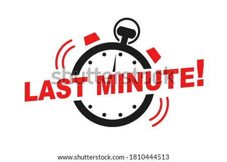 Last minute offer watch countdown banner design template for marketing. Last chance promotion or retail for store online shop, website. Minute go sale price offer promo deal timer, minute only