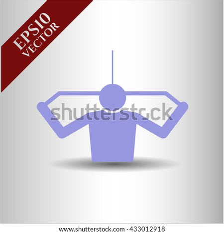 lat pull down exercise icon vector symbol flat eps