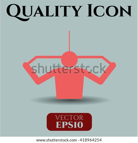 Lat Pull Down (Exercise) vector icon