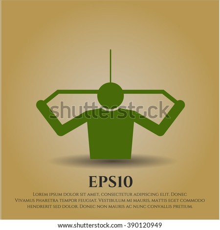 Lat Pull Down (Exercise) vector symbol