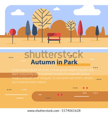 late autumn  colorful park