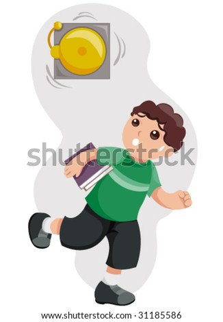 Late for School - Vector - stock vector