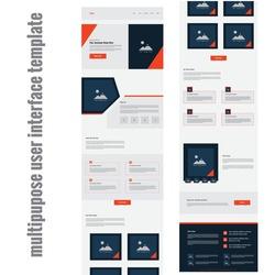 latest Creative business multipurpose website user interface template Design