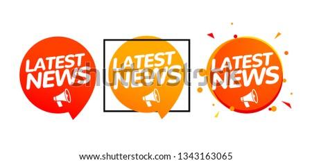 Latest News Labels - Download Free Vectors, Clipart Graphics