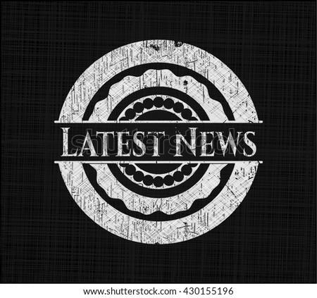 Latest News chalkboard emblem