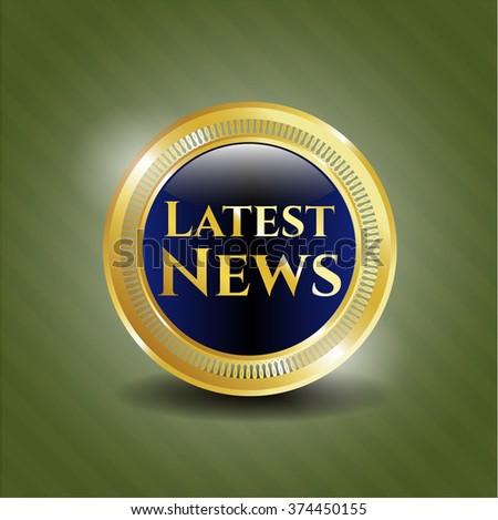 Latest News gold emblem or badge