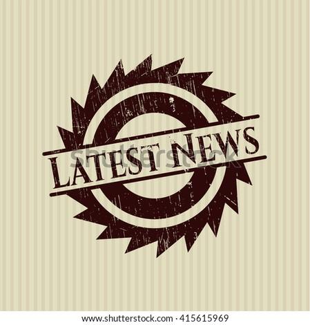 Latest News grunge seal