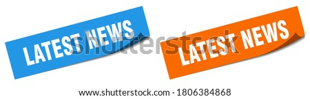 latest news paper peeler sign set. latest news sticker