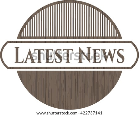 Latest News realistic wooden emblem