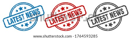 latest news stamp. latest news round isolated sign. latest news label set