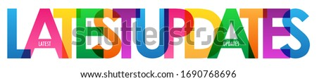 LATEST UPDATES colorful vector typography banner