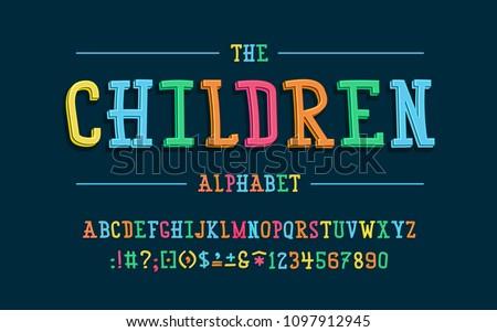 latin alphabet children font