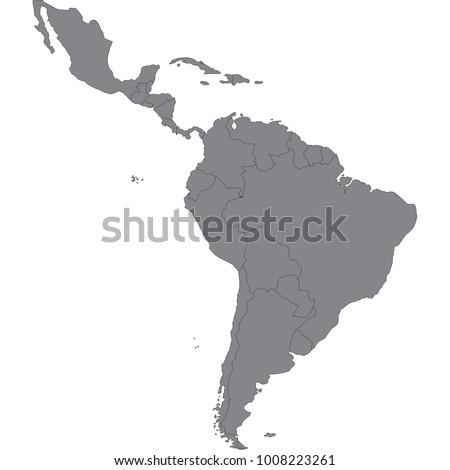 latin america map Foto stock ©