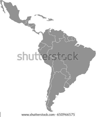 Latin America Map Stok fotoğraf ©